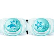 זוג מוצצים אולטרה סופט כחול Avent 0-6m