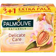 סבון מוצק בניחוח חלב שקדים - רביעייה Palmolive