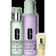 מארז טיפוח לעור יבש-מעורב: סבון פנים+מי הסרה+תחליב לחות