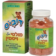 דובי'ס מולטי ויטמין לילדים עם אבץ